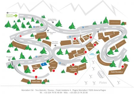Plan de la station village de Montalbert